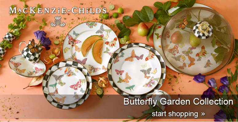 MacKenzie-Childs Butterfly Garden-Dinnerware Collection